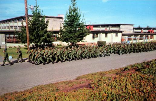 Recruits Marching